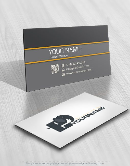 business card Elephant Logos