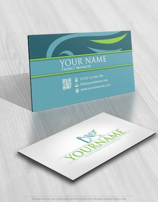 Alphabet Bird Logo card design