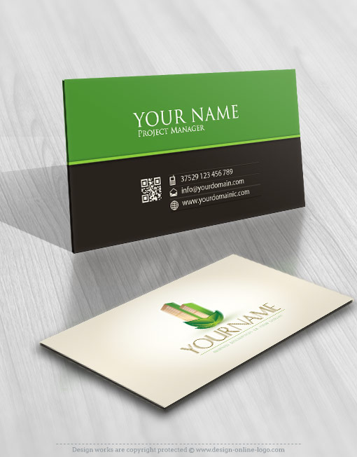ECO Real Estate Logo card design