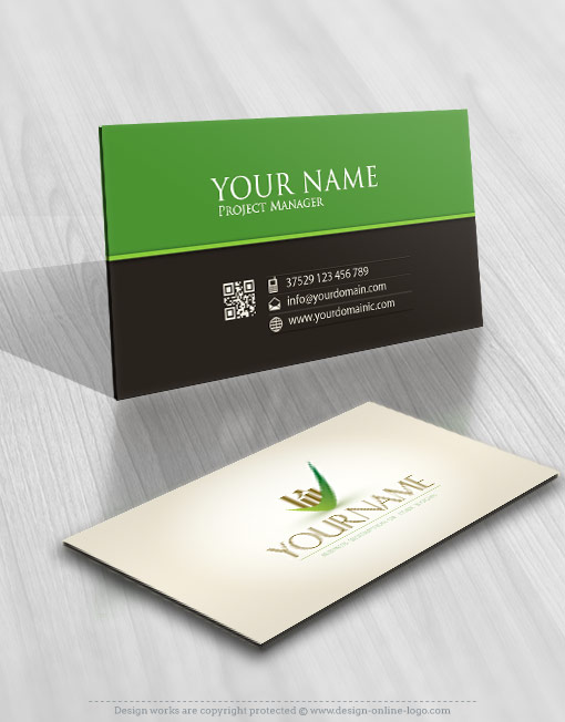 Money logo business card design