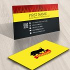 Bull logos business cards