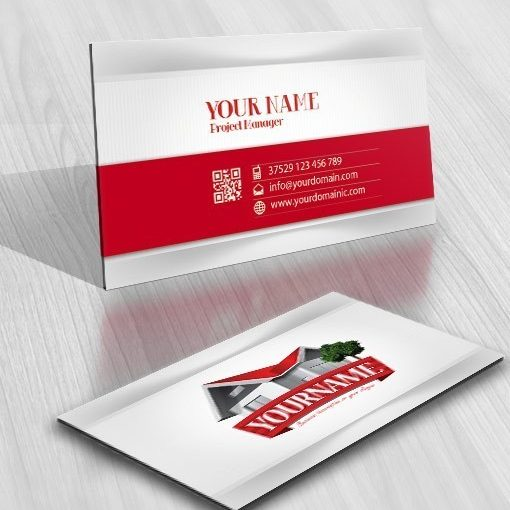 House Realty Logo business card design
