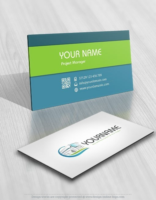 Bus Transportation logo card design