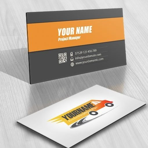 Exclusive Design Truck Cargo Logo Compatible FREE Business Card - Free business card templates online