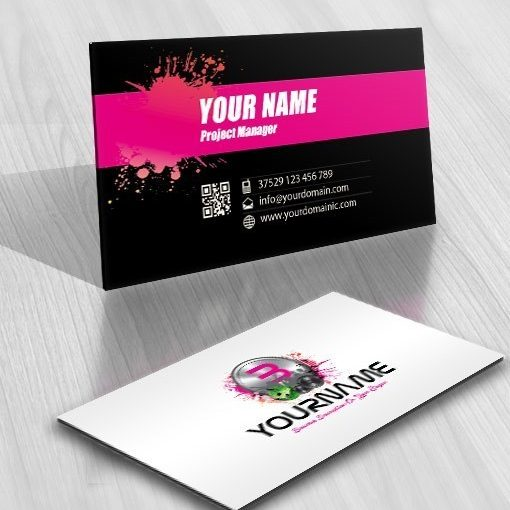 Exclusive Design Initials Music logo FREE Business Card – Club Card Design
