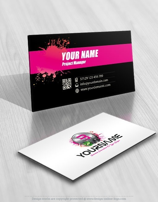 Initials Club Party Music Logo Design  Club Card Design