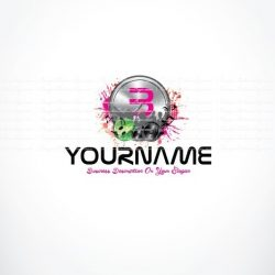 Initials club party Music logo Design