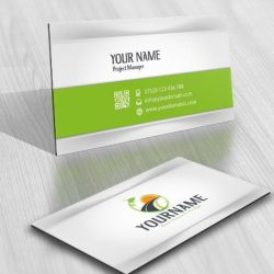 Path leaves logo card design