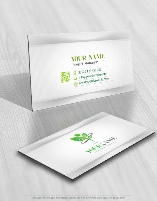Man Grow logo card design for sale