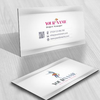 3D Human logo card design