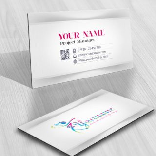 Woman Dancing Logo card design