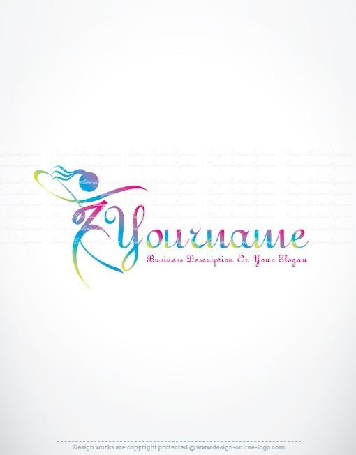Exclusive design woman dancing logo compatible free business card woman dancing logo reheart