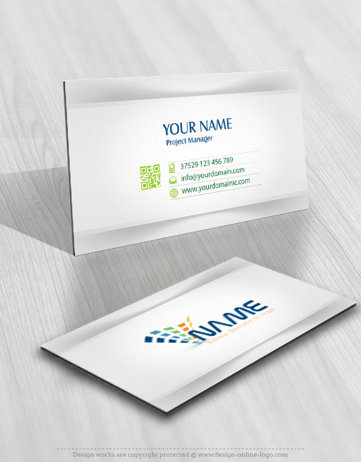 Abstract logo card design online
