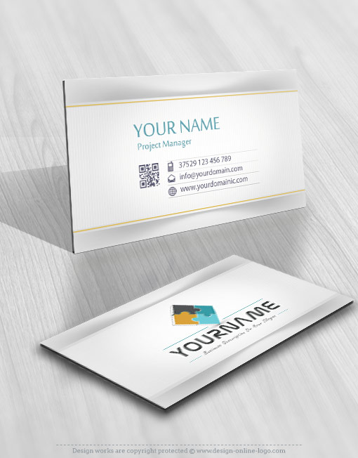 3D Puzzle Logo card design