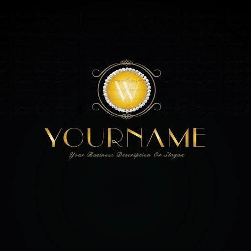 Premium Exclusive Design Gold Diamonds Alphabet logo