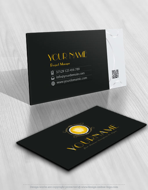 Premium Design Gold Diamonds Alphabet logos card design