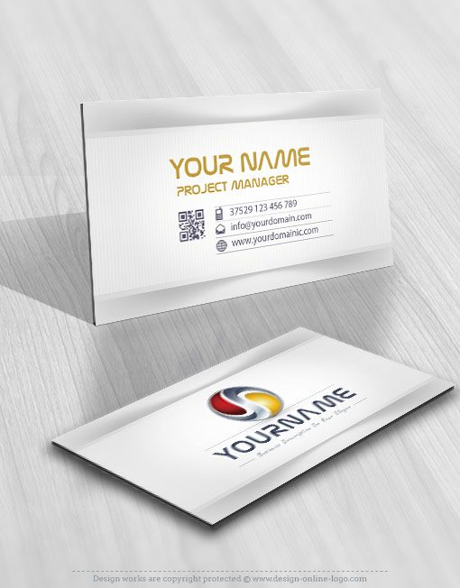 3D tech card design logo