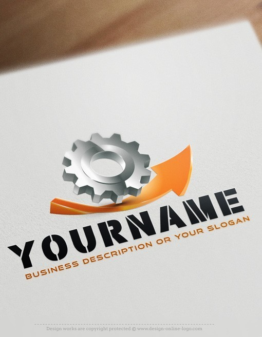 Industry Gear logo card design