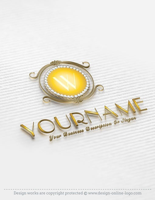 Premium Design Gold Diamonds Alphabet logos