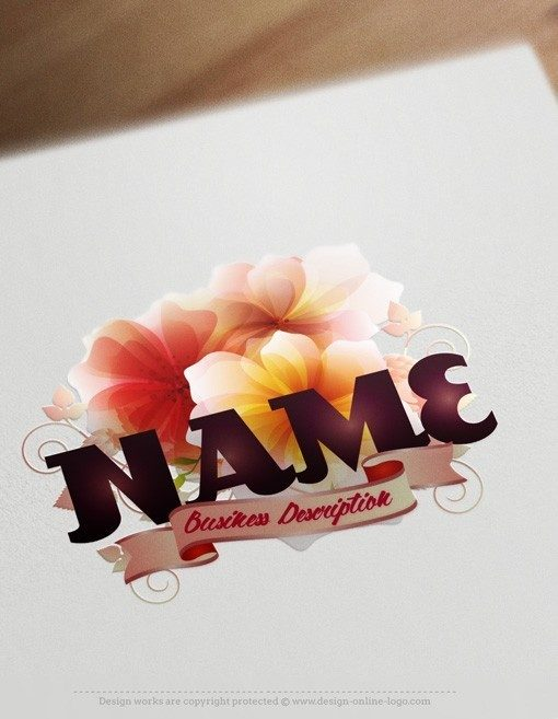 flowers shop logo design