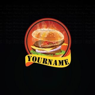 Burger fast food restaurant logo design