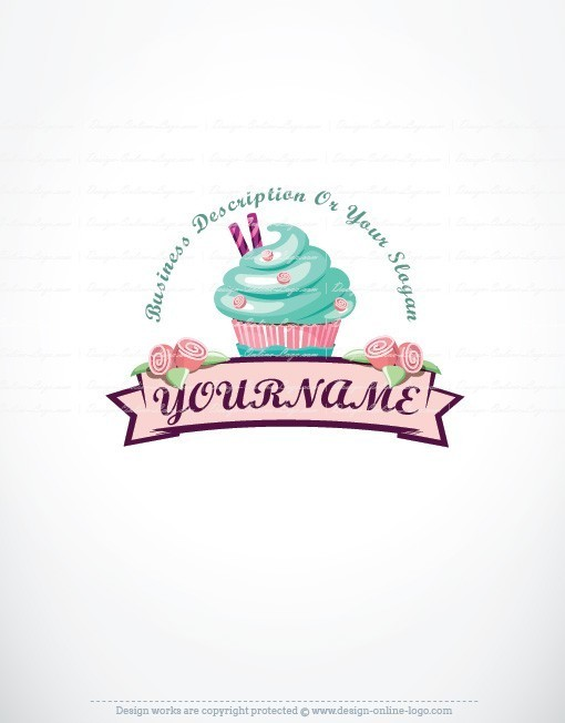 Cake Company Logo Design : Exclusive Design: Cup Cake Logo + Compatible FREE Business ...