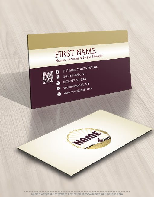 Wheat Field Bakery Logos card design online