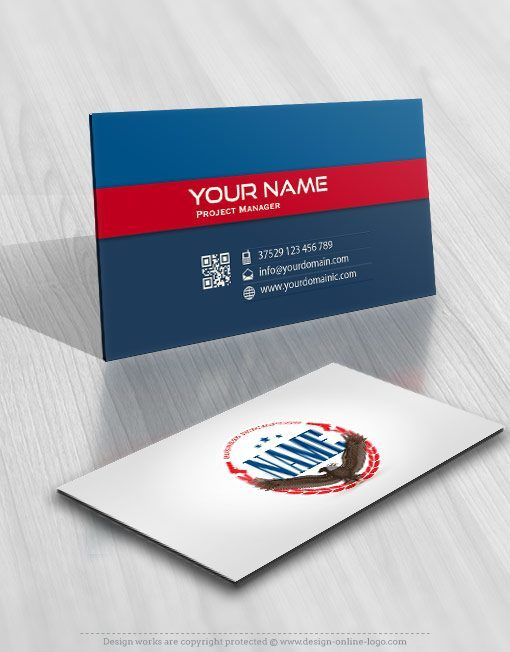 Exclusive Design Usa Eagle Logo Free Business Card