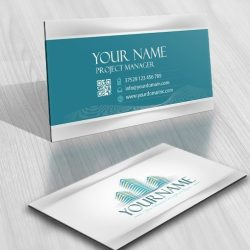 Buildings Real Estate Logo card design