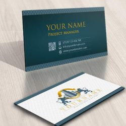 Crest Real Estate Logo card design