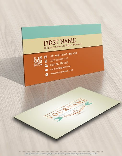 Vintage Birds logo card design online