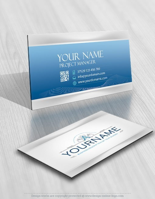 Initials decorations logo business card