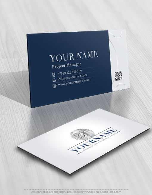 business card Logo design law firm lawyer