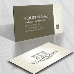 Initials Lawyers logo card design