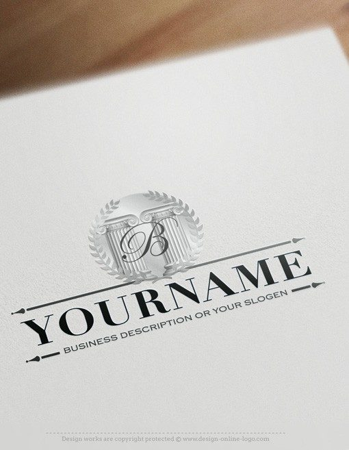 Ready made Logo design law firm lawyer