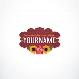 Ready made online Logo design with colorful flowers