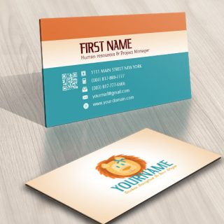 Lion Kids Logo card design online