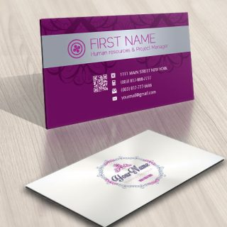 Clothes Sewing Logo card design