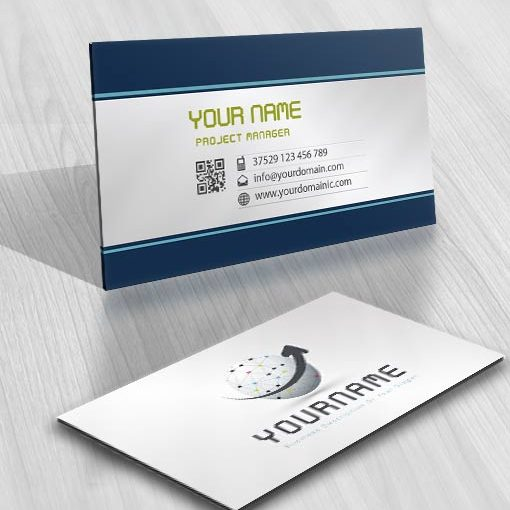 Digital Network logo card design