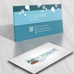 Maid Cleaning company logo card design