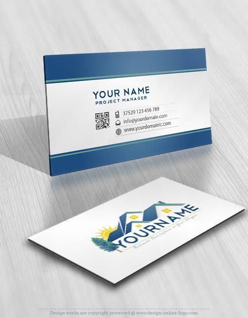 House Real Estate Logo card design
