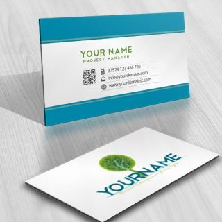Green Tree Logo card design