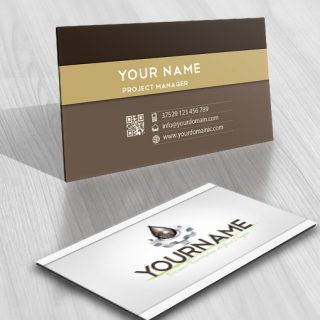 Industrial Oil Logo card design