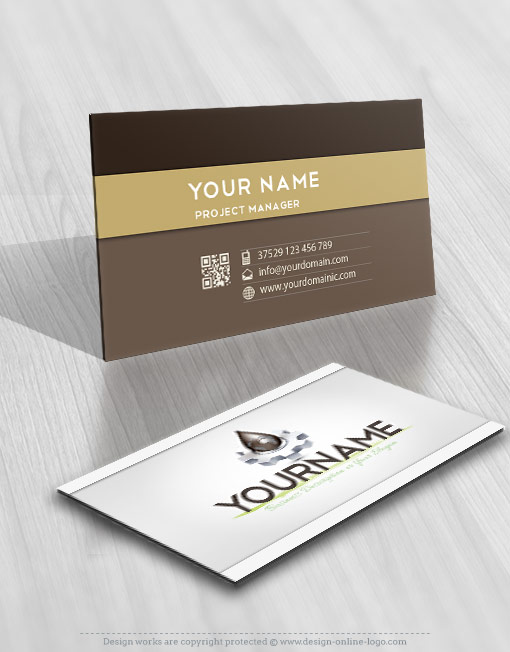 Exclusive design industrial oil logo free business card online industrial oil logo card design reheart