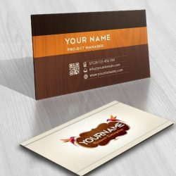 Wood pecker logo card design