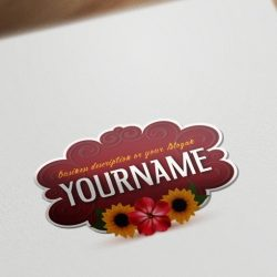 colorful flowers online Logo design