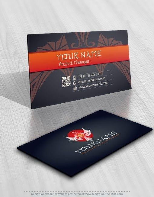 Phoenix Tattoo Logo card design