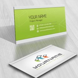 3D 3 Cubes Logo Card design