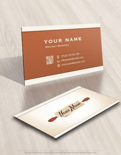 Online confectionery logo design Rolling pin