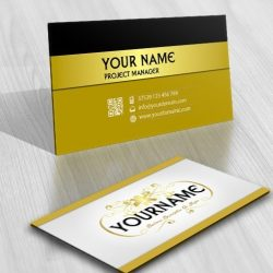 Gold floral Logo card design online